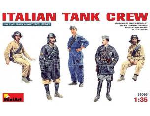 MINIART MIN35093 ITALIAN TANK CREW KIT 1:35 Modellino