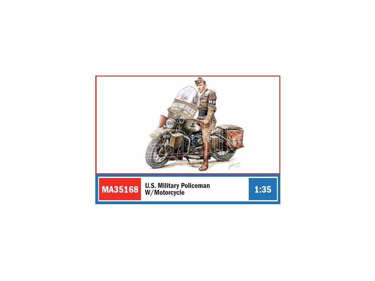 MINIART MIN35168 U.S.MILITARY POLICEMAN W/MOTORCYCLE KIT 1:35 Modellino