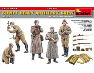 MINIART MIN35185 SOVIET HEAVY ARTILLERY CREW KIT 1:35 Modellino