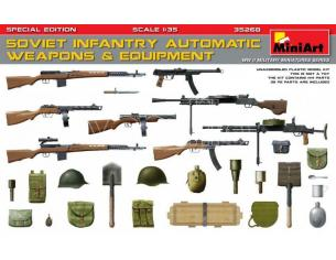 MINIART MIN35268 SOVIET INFANTRY AUTOMATIC WEAPONS & EQUIPMENT  KIT 1:35 Modellino