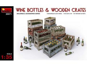 MINIART MIN35571 WINE BOTTLE & WOODEN CRATES KIT 1:35 Modellino