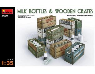 MINIART MIN35573 MILK BOTTLE & WOODEN CRATES KIT 1:35 Modellino