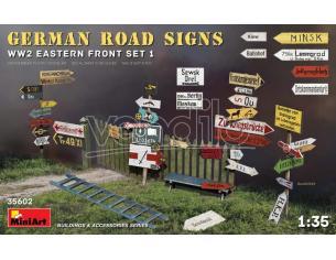 MINIART MIN35602 GERMAN ROAD SIGNS WW2 EASTERN FRONT SET 1 KIT 1:35 Modellino