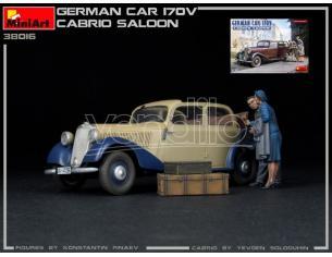 MINIART MIN38016 GERMAN CAR 170V CABRIO SALOON KIT 1:35 Modellino
