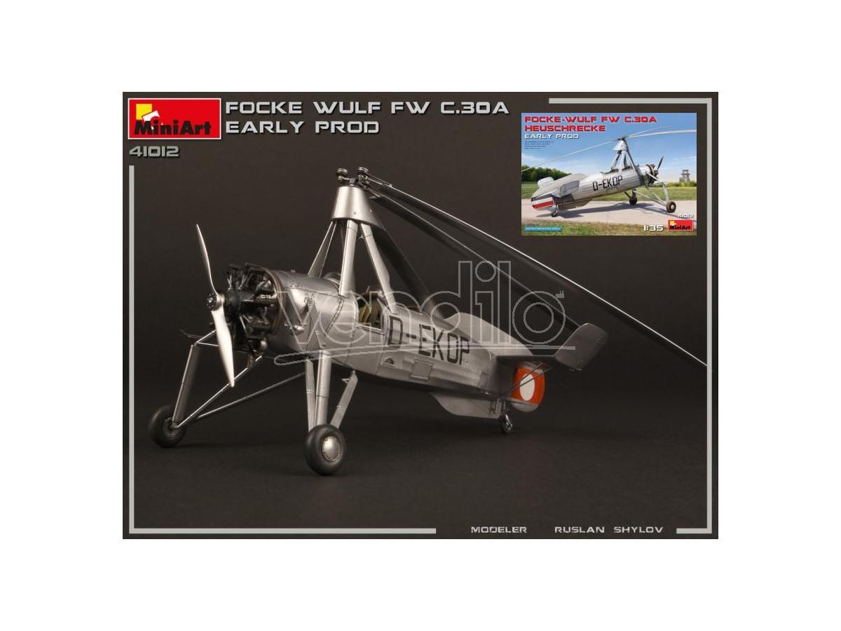 MINIART MIN41012 FOCKE-WULF Fw C 30A HEUSCHRECKE EARLY PROD.KIT 1:35 Modellino