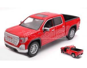 MOTORMAX MTM79361R GMC SIERRA 1500 SLT CREW CAB 2019 RED 1:27 Modellino