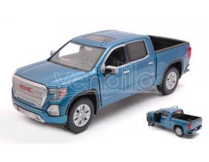 MOTORMAX MTM79362B GMC SIERRA 1500 DENALI CREW CAB 2019 METALLIC BLUE 1:27 Modellino