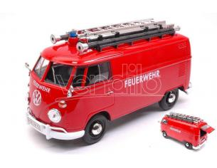 MOTORMAX MTM79564 VW TYPE 2 (T1) DELIVERY VAN FEUERWEHR W/LADDER ON THE ROOF 1:24 Modellino