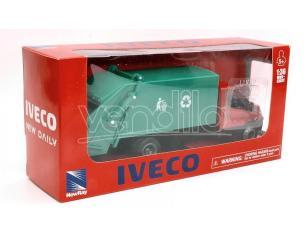 NEW RAY NY15873P IVECO DAILY RACCOLTA RIFIUTI ROSSO 1:36 Modellino