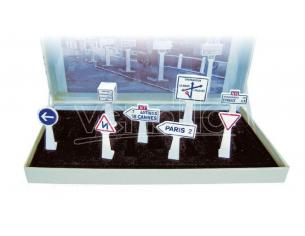 NOREV NVAV4109 SEGNALI STRADALI BOX OF 8 TRAFFIC SIGNS 1:43 Modellino