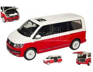 NZG NZG9541-10 VW T6 MULTIVAN RED/WHITE 1:18 Modellino