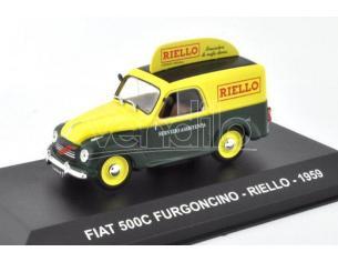 EDITORIA PE062 FIAT 500 C  FURGONCINO RIELLO 1959 1:43 Modellino
