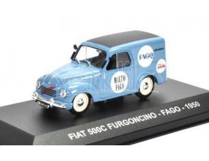 EDITORIA PE100 FIAT 500 C FURGONCINO FAGO 1950 1:43 Modellino