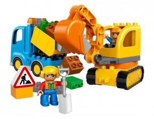 LEGO DUPLO 10812 - CAMION E SCAVATRICE CINGOLATA