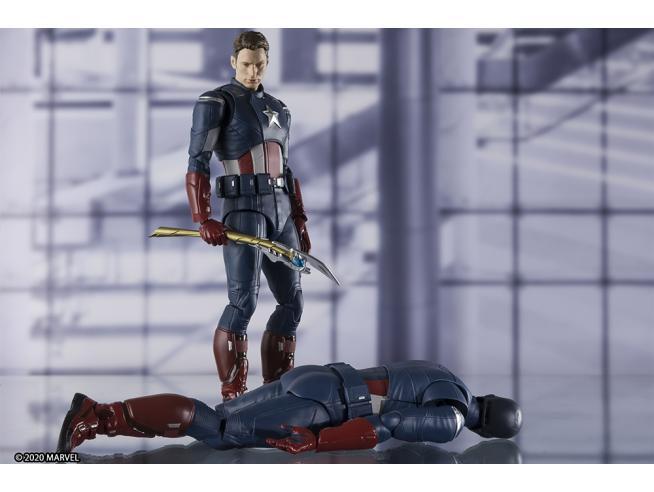Avengers Endgame Statua Capitan America Tamashii Nations S.H. Figura 17 cm Bandai