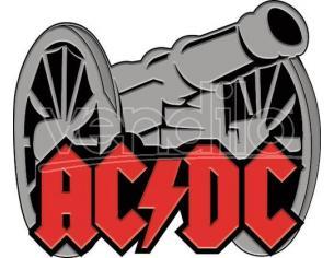 AQUARIUS ENT AC/DC CANNON ENAMEL PIN SPILLA