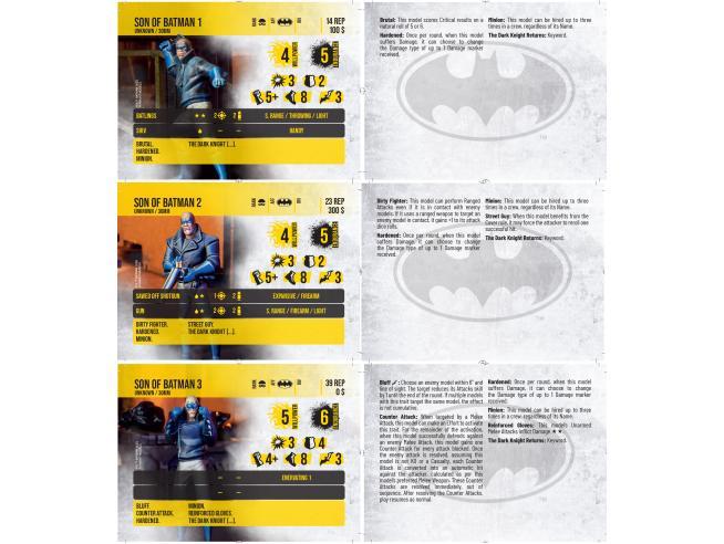 KNIGHT MODELS BMG SONS OF BATMAN WARGAME
