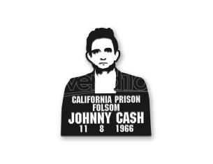 AQUARIUS ENT JOHNNY CASH PRISON ENAMEL PIN SPILLA