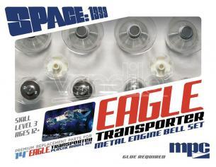 MPC SPACE 1999 EAGLE METAL ENGINE BELL SET ACCESSORI