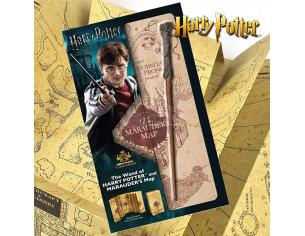 Set Regalo Bacchetta Harry Potter e Mappa Malandrino originale Noble Collection