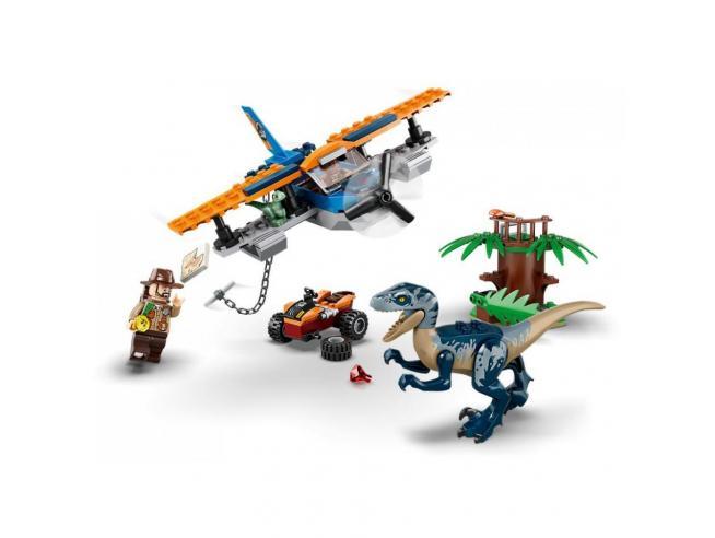 LEGO JURASSIC WORLD 75942 - VELOCIRAPTOR SALVATAGGIO IN BIPLANO