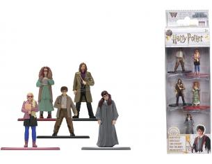 Jada - Confezione da 5 Action Figure in metallo di Harry Potter 4 cm