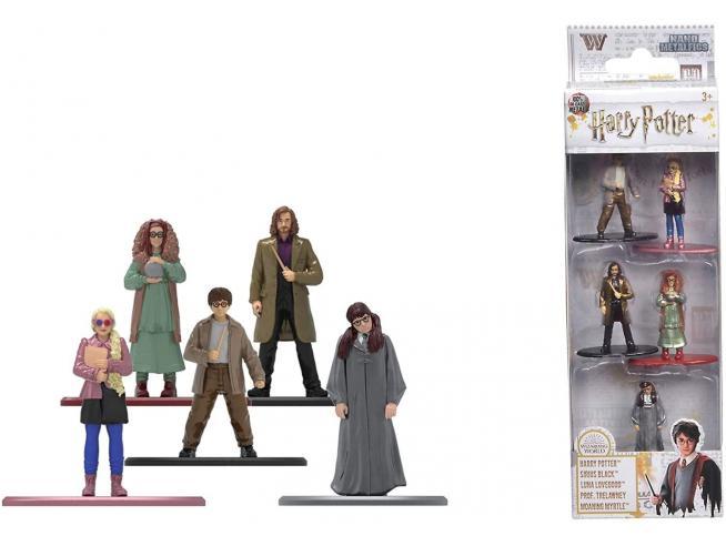 Harry Potter  Jada - Confezione Da 5 Action Figure In Metallo Di  4 Cm