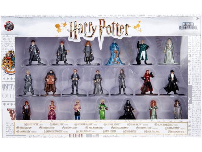 Jada - Confezione da 20 Action Figure in metallo di Harry Potter 4 cm