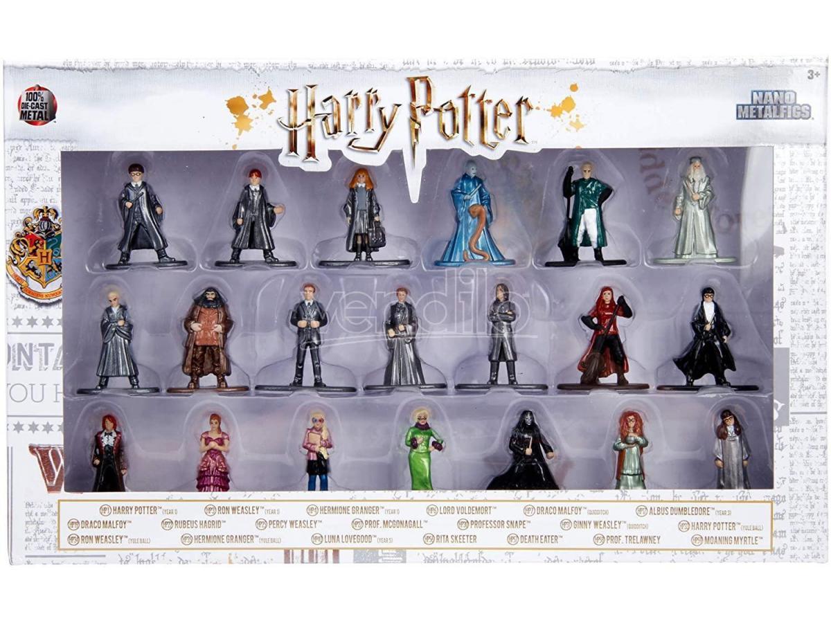 Harry Potter Jada - Confezione Da 20 Action Figura In Metallolo Di 4 Cm