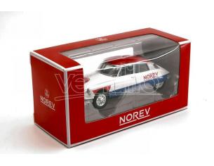 NOREV NV310603 CITROEN DS 19 1958 CYCLISTE - BLUE WHITE RED 1:64 Modellino