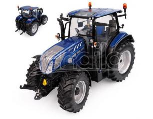 UNIVERSAL HOBBIES UH6223 TRATTORE NEW HOLLAND T5.140 BLUE POWER LOW ROOF HIGH VISIBILITY 1:32 Modellino
