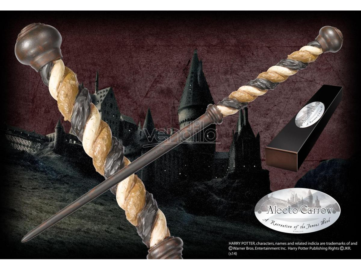 Harry Potter  Bacchetta Magica Alecto Carrow  Character Noble Collection