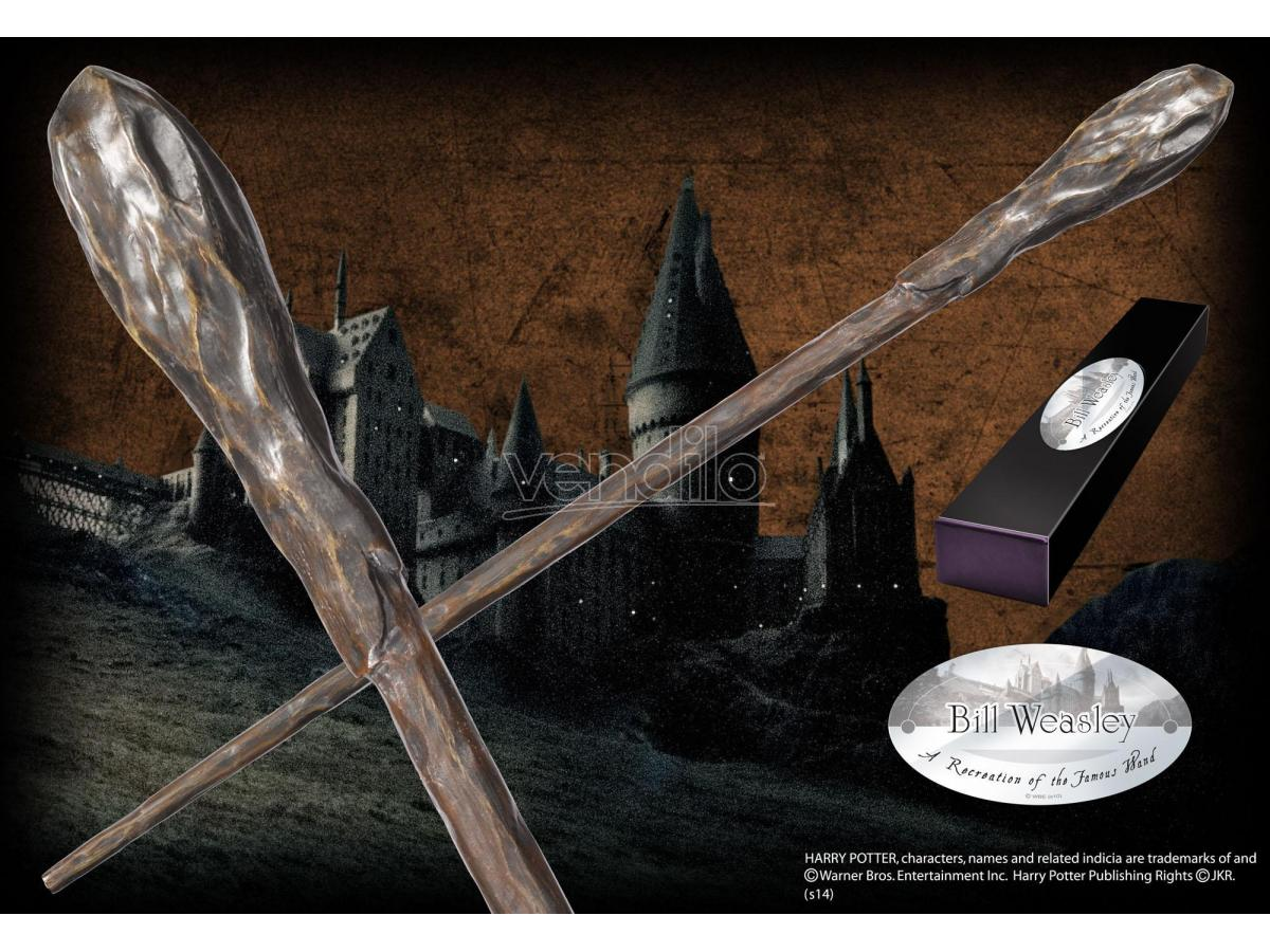 Bacchetta Magica Bill Weasley Harry Potter Character Noble Collection