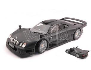 MAISTO MI31849 MERCEDES CLK GTR STREET VERSION MATT BLACK 1:18 Modellino