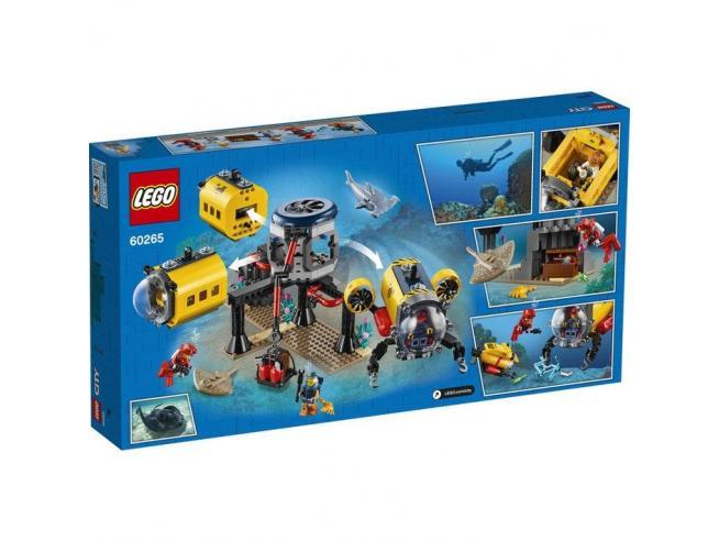 LEGO CITY 60265 - BASE PER ESPLORAZIONI OCEANICHE