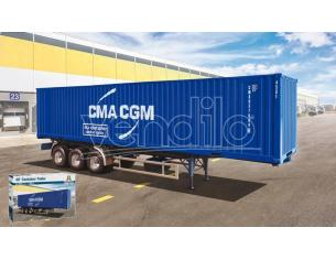 ITALERI IT3951 CONTAINER TRAILER 40 FEET KIT 1:24 Modellino