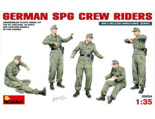 MINIART MIN35054 GERMAN SPG CREW RIDERS KIT 1:35 Modellino