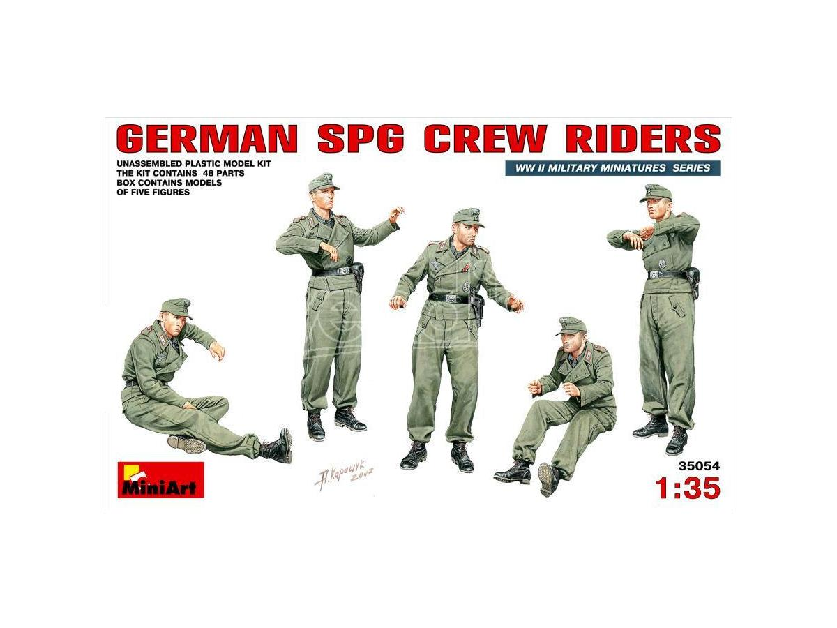 MINIART MIN35054 GERMAN SPG CREW RIDERS KIT 1:35 Modellino