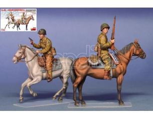 MINIART MIN35151 U.S.HORSEMEN NORMANDY 1944 KIT 1:35 Modellino