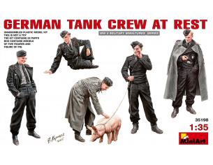 MINIART MIN35198 GERMAN TANK CREW AT REST KIT 1:35 Modellino