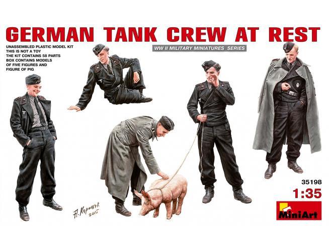 MINIART MIN35198 GERMAN TANK CREW AT REST KIT 1:35 Modellino