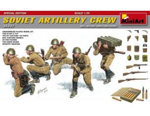 MINIART MIN35231 SOVIET ARTILLERY CREW SPECIAL EDITION KIT 1:35 Modellino