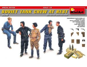 MINIART MIN35246 SOVIET TANK CREW AT REST SPECIAL EDITION KIT 1:35 Modellino