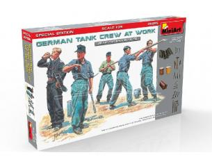 MINIART MIN35285 GERMAN TANK CREW AT WORK KIT 1:35 Modellino