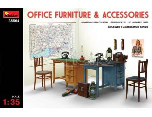 MINIART MIN35564 OFFICE FORNITURE & ACCESSORIES SET KIT 1:35 Modellino