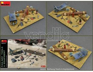 MINIART MIN35572 RAILWAY TOOLS & EQUIPMENT KIT 1:35 Modellino
