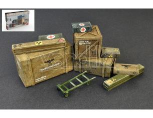 Miniart Min35581 In Legno Boxes & Crates Kit 1:35 Modellino