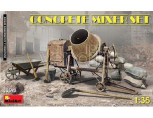 MINIART MIN35593 CONCRETE MIXER SET KIT 1:35 Modellino
