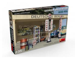 MINIART MIN35598 GERMAN GAS STATION 1930-40s KIT 1:35 Modellino