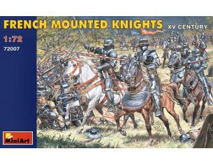 MINIART MIN72007 FRENCH MOUNTED KNIGHTS XV CENTURY KIT 1:72 Modellino